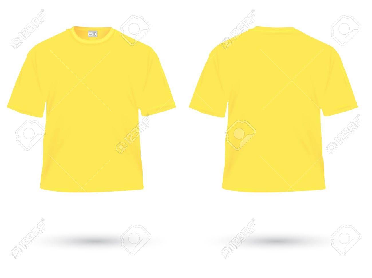 yellow t-shirt illustration on white Stock Vector - 20984883