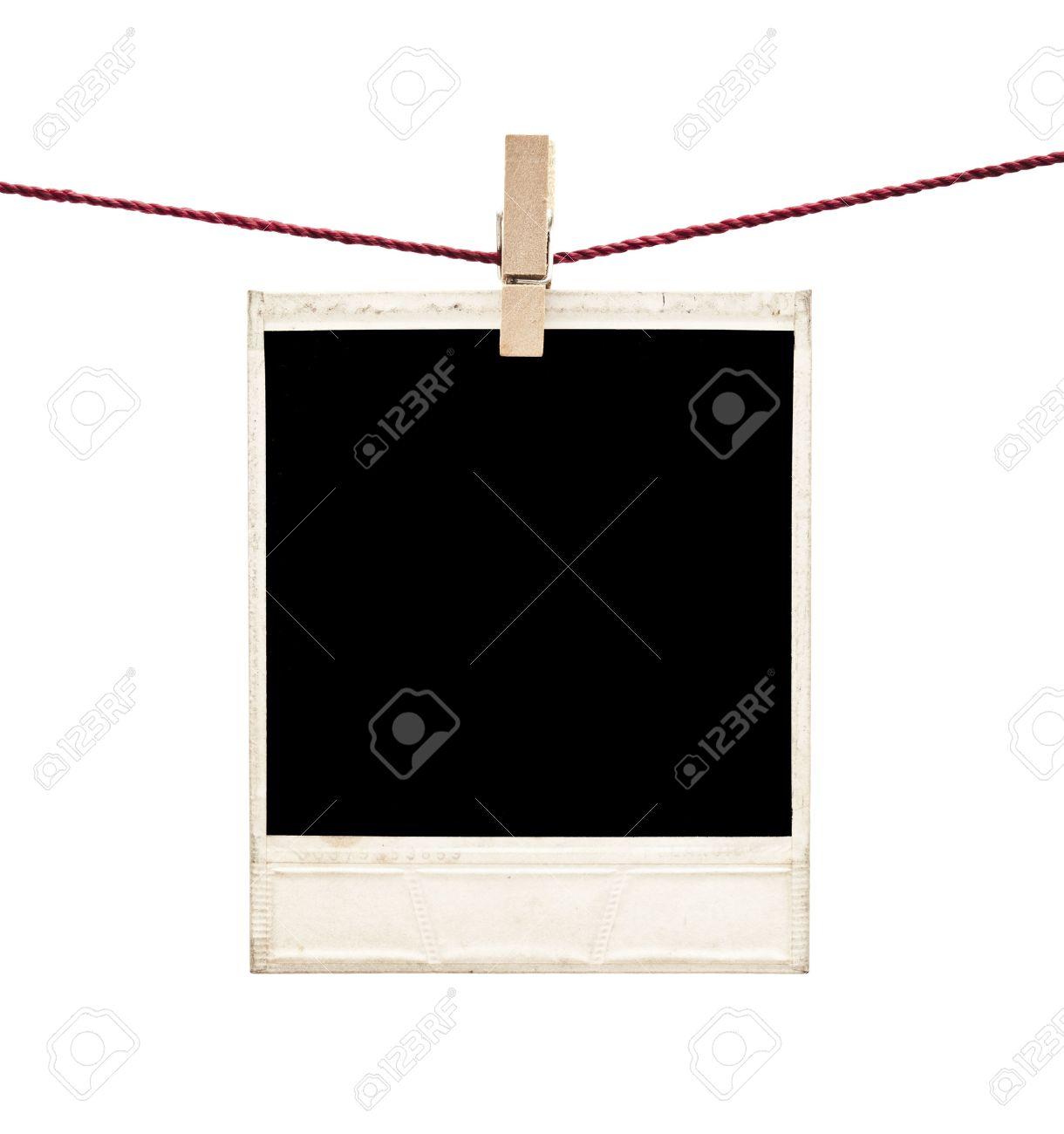 Photo Polaroid Frames On White Stock Photo, Picture And Royalty Free ...