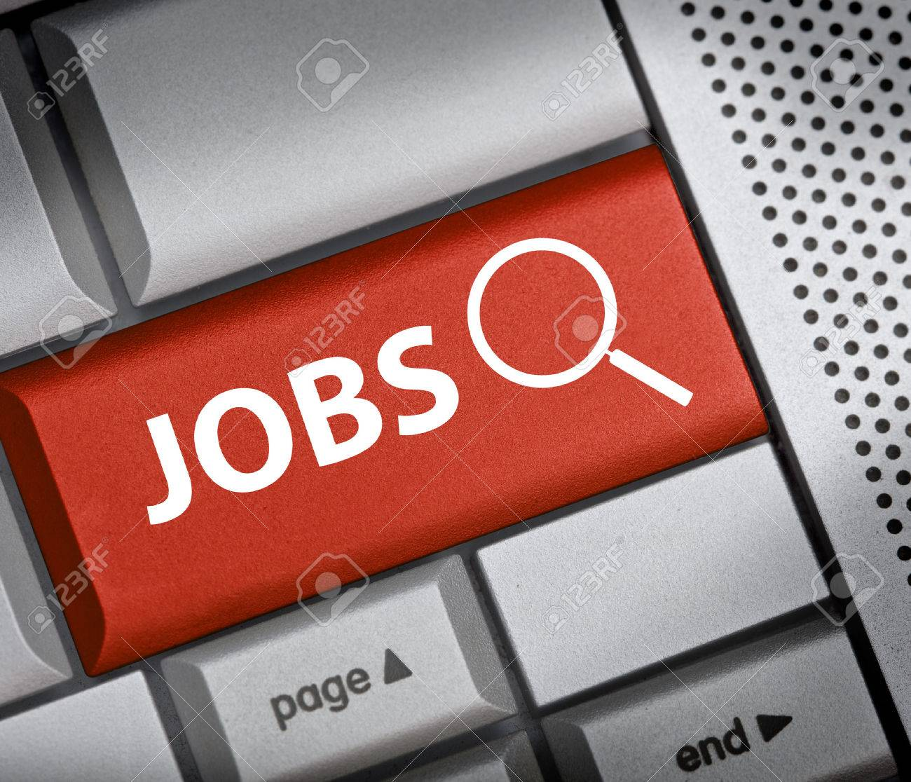 finding jobs button on red keyboard stock photo picture and stock photo finding jobs button on red keyboard