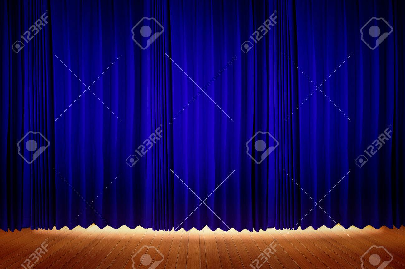 Bl blue stage curtains background - Blue Velvet Stage Curtains With Stage Floor Stock Photo Picture Blue Velvet Stage Curtains With Stage
