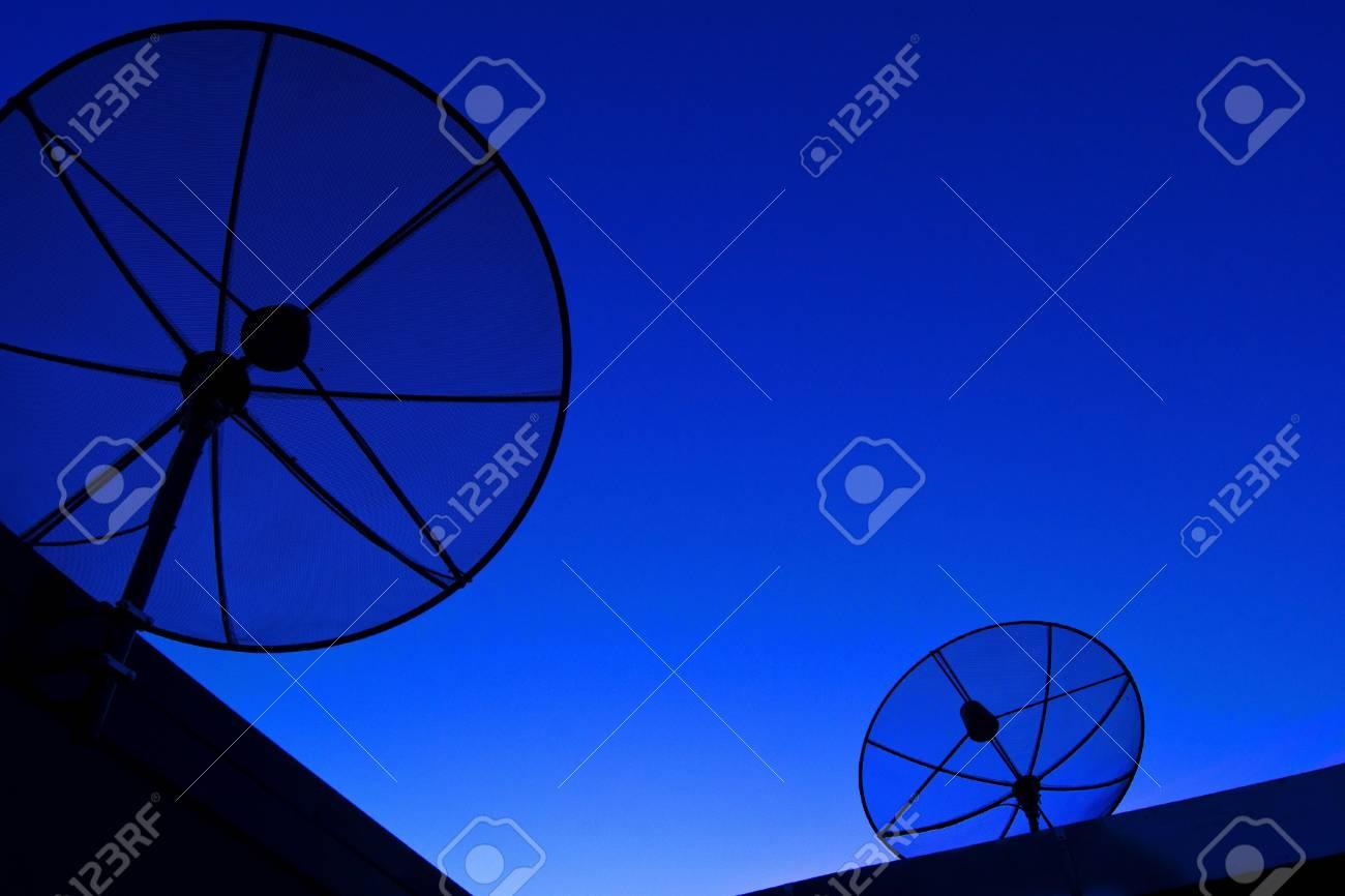 Satellite dish in blue sky Stock Photo - 11694788