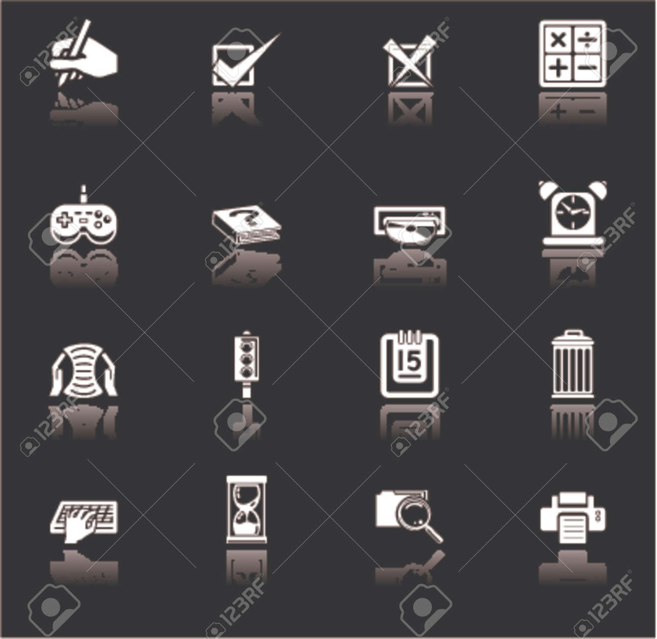 an icon series set for computer applications. Stock Vector - 663429