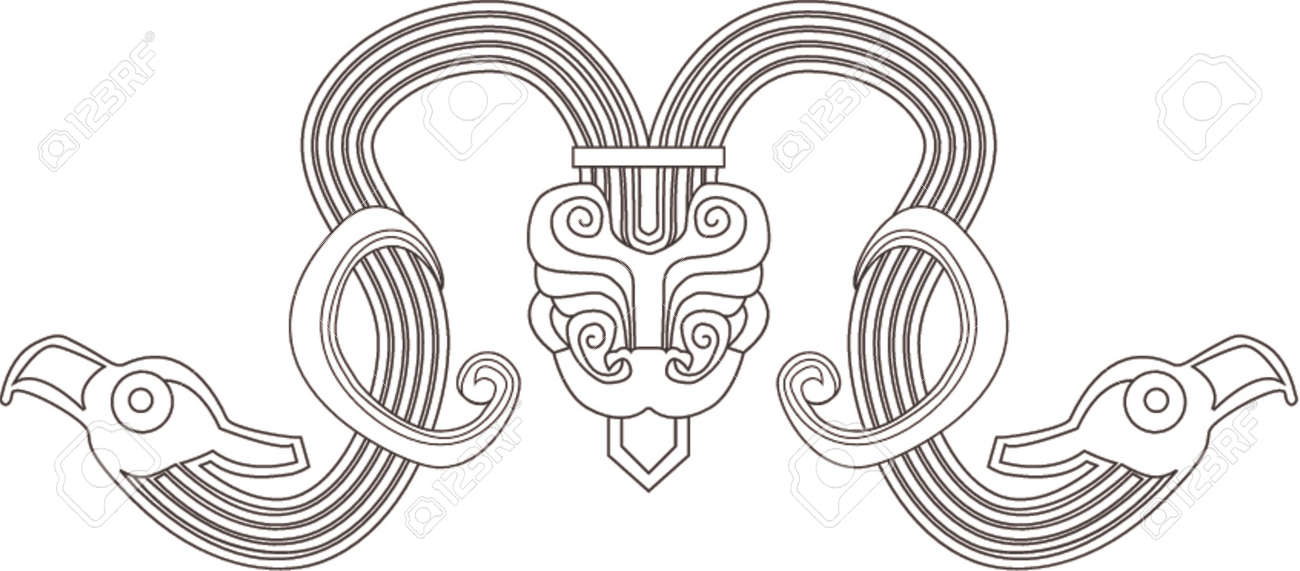 紀元前 7 世紀頃の中国デザイン...