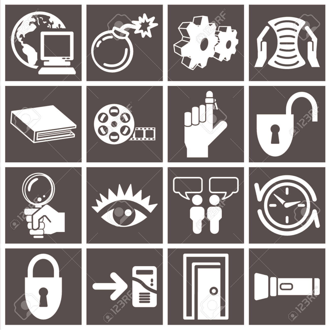 a series set of web icons Stock Vector - 663382