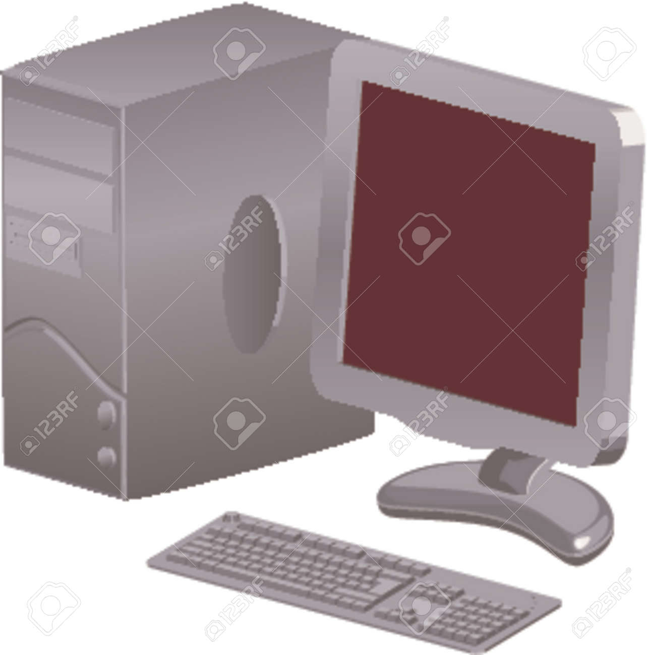 a computer with tft Stock Vector - 663322