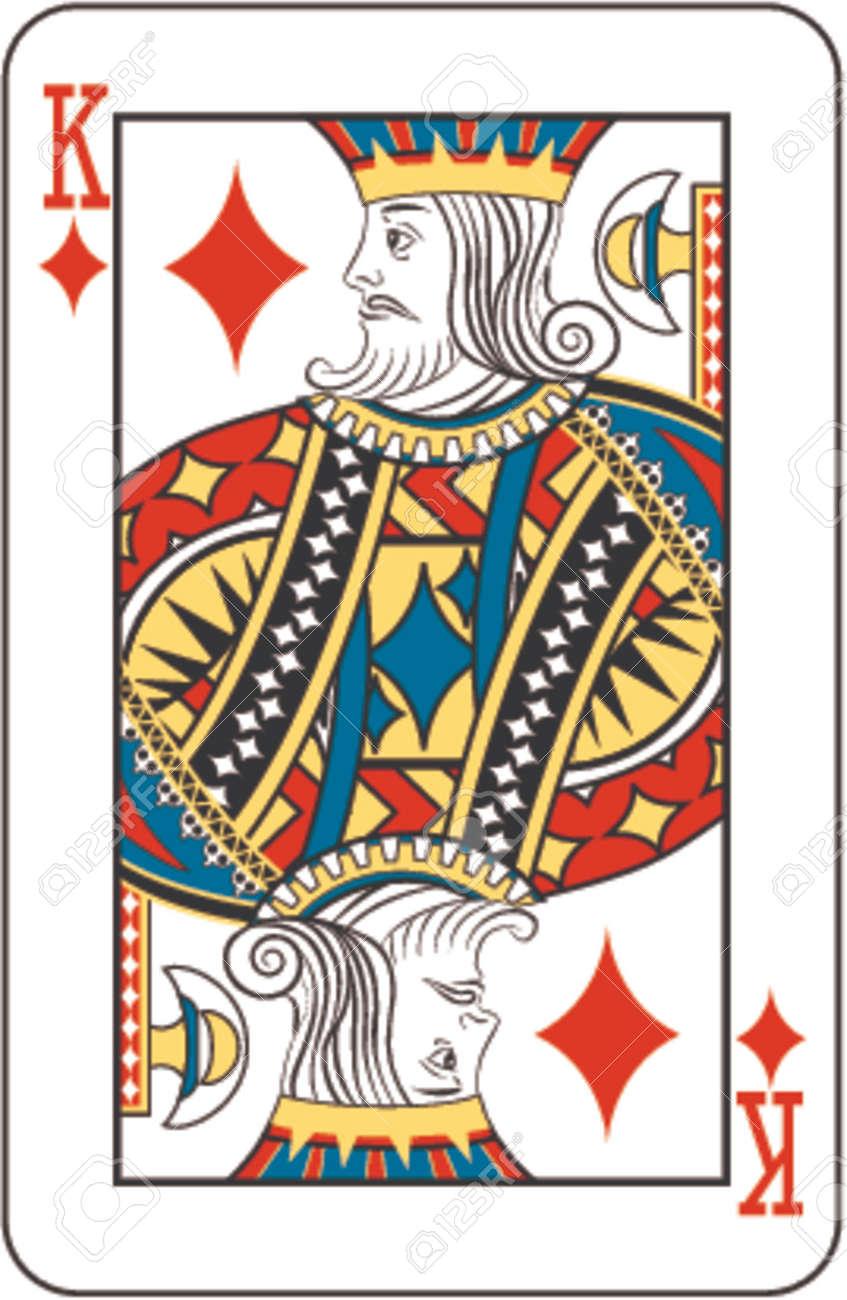 トランプのデッキからダイヤのキングのイラスト素材 ベクタ Image