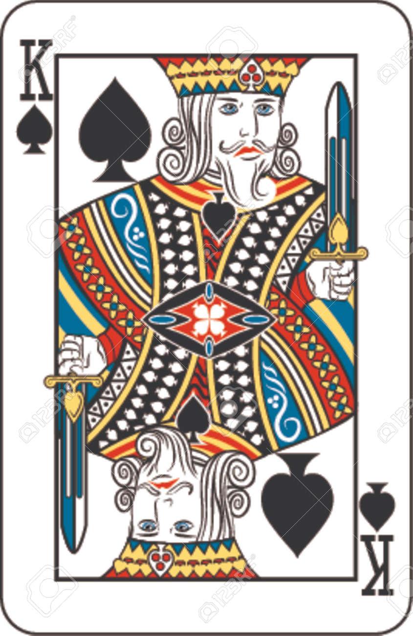 トランプのデッキからスペードのキングのイラスト素材 ベクタ Image