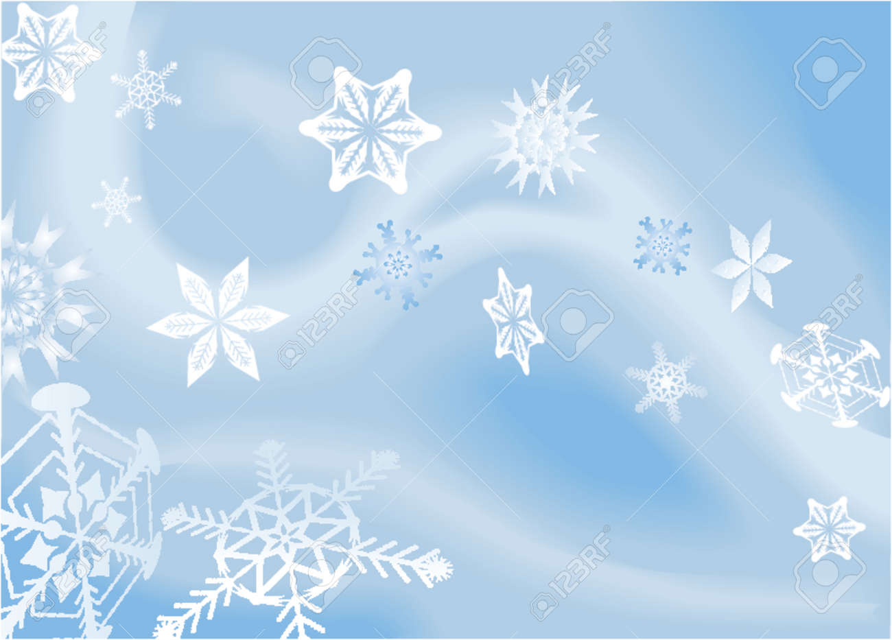a winter background with snowflakes falling shading by blends