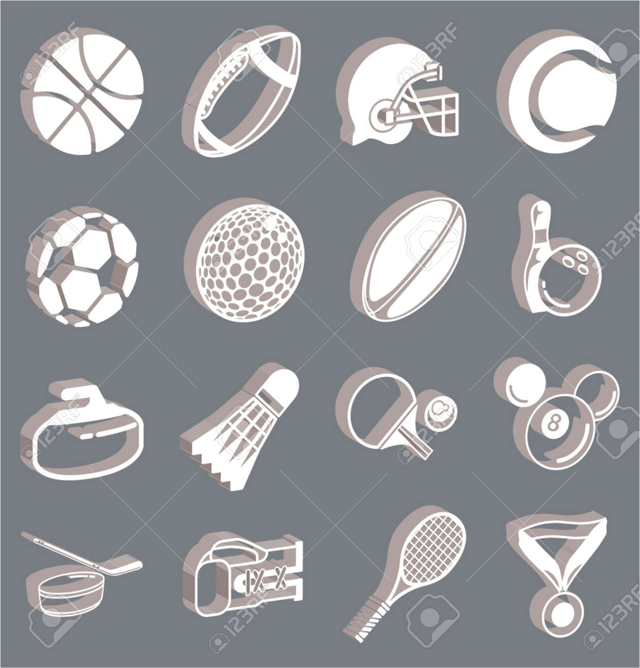 series of icons or design elements relating to sports Stock Vector - 654260
