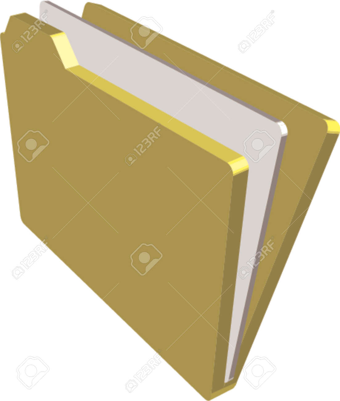 An illustration of a folder containing documents Stock Vector - 826123