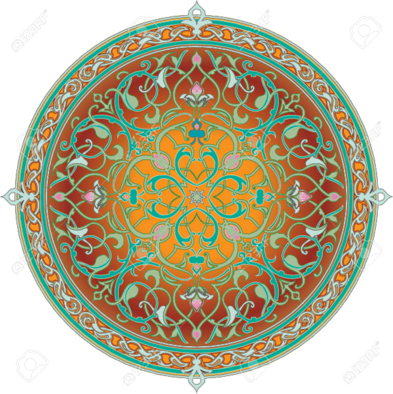 Arabic floral pattern motif. Arabic floral pattern motif, based on Ottoman ornament Stock Vector - 866519