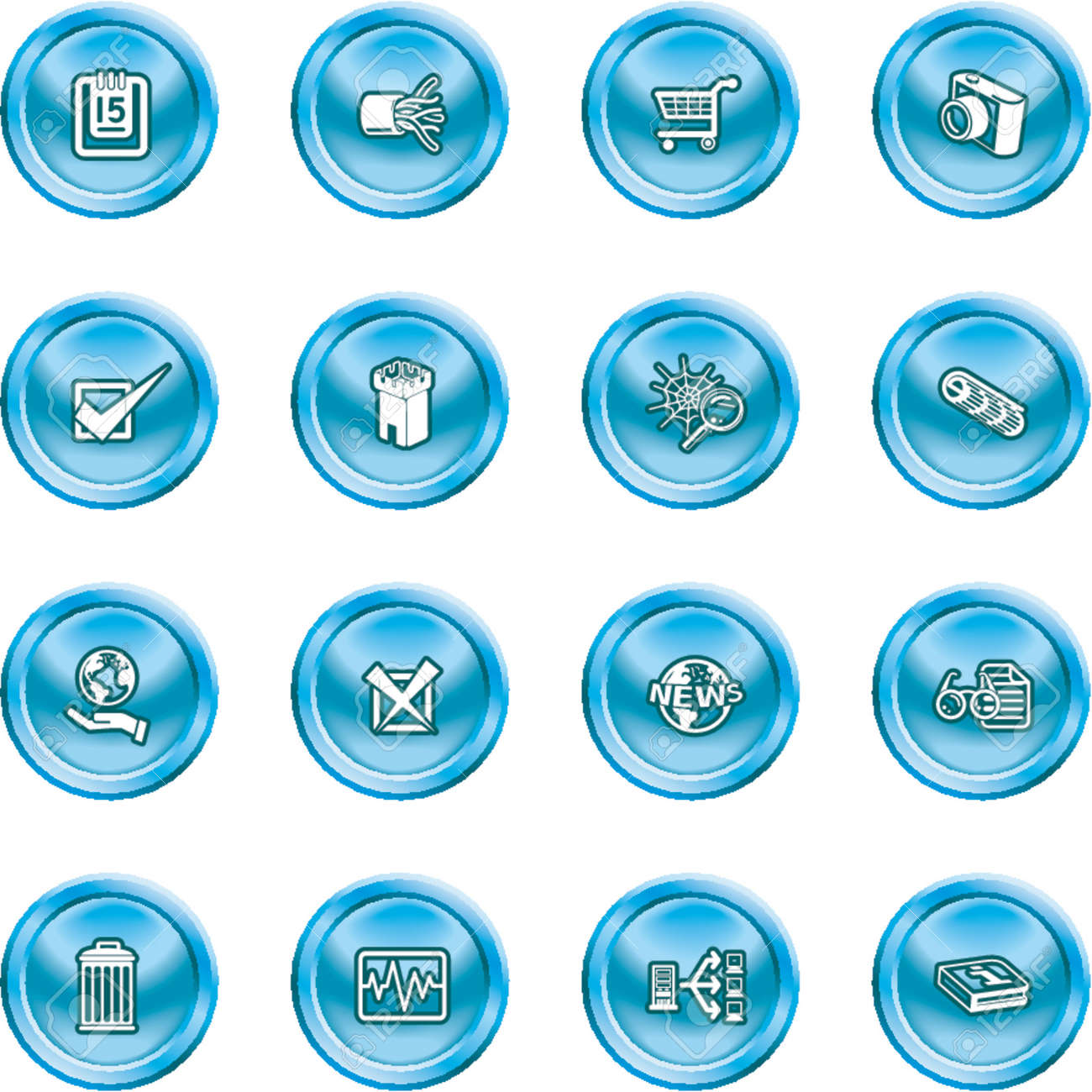 Computer and Web Icons A set of computer and web icons Stock Vector - 1156249