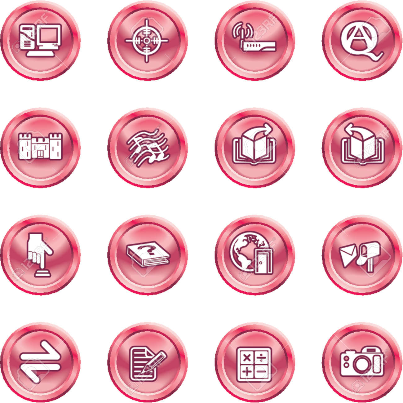 Internet or Computing Icon Set.  No meshes used Stock Vector - 1280167