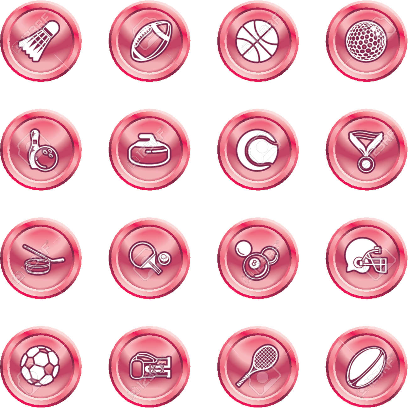 sport icons. series of icons or design elements relating to sports Stock Vector - 1280177