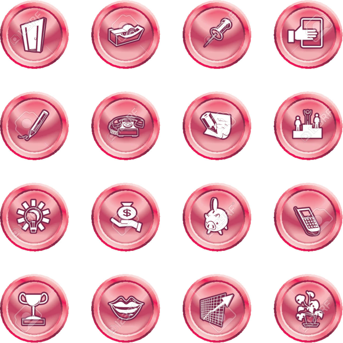 Business and office icons. A series set of office and business icons Stock Vector - 1280180