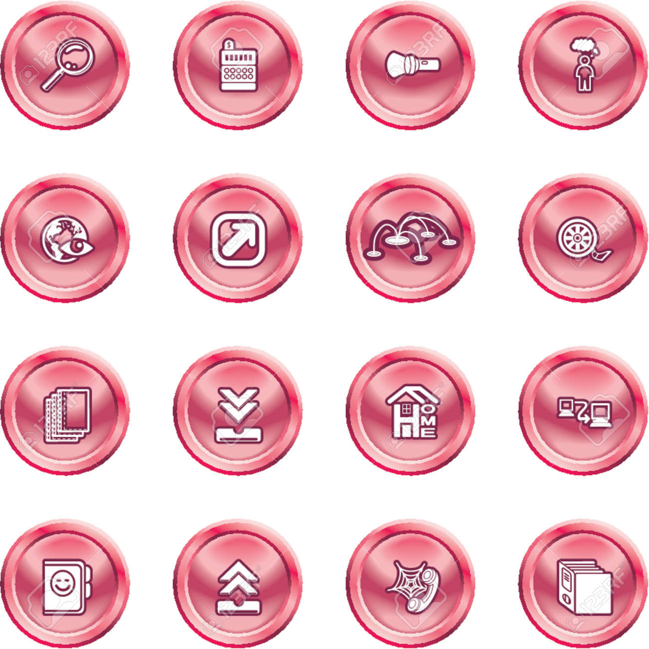 Computing and Website Icons. A set of shiny Computing and Website Icons Stock Vector - 1280181