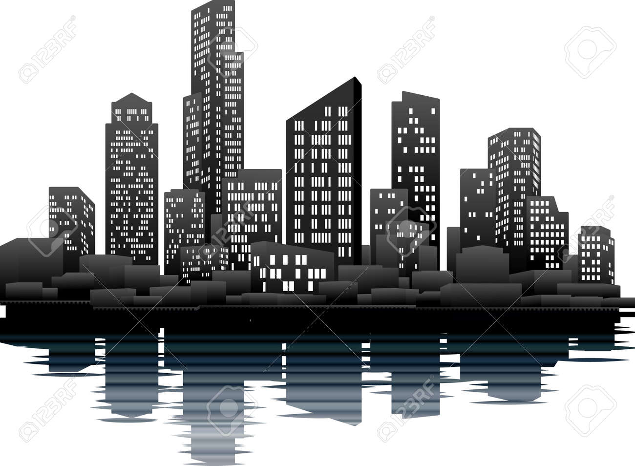 Clip Art City Skyline Clipart city skyline clipart amazing wallpapers a vector illustration of night time skyline