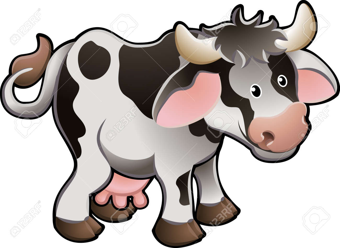 Vector Illustration Of a Cute Dairy Cow Stock Vector - 2909564