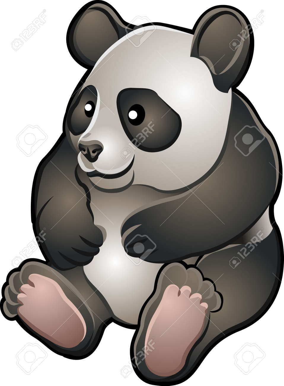 A vector illustration of a cute friendly giant panda bear Stock Vector - 2994379
