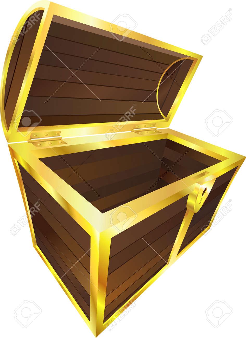 taille 40 b59bf 4a74e Une illustration d'un vide en bois ou pirate coffre au trésor