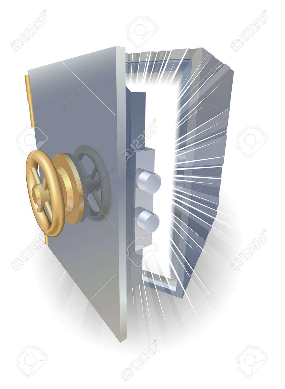 Safe opening containing something amazing Stock Vector - 9483380
