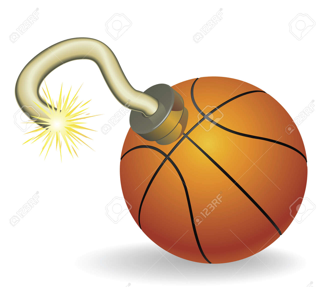 Time bomb in shape of basketball concept. Represents countdown to explosive event or ongoing basketball crisis Stock Vector - 9720996