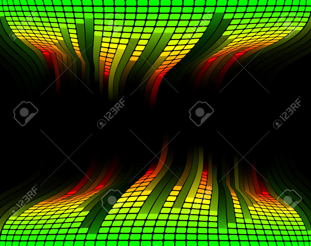 Abstract equaliser music sound background with copyspace in the centre Stock Vector - 9722314