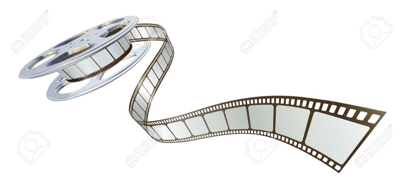 Movie film spooling out of film reel symbol for cinema royalty movie film spooling out of film reel symbol for cinema stock vector 9851557 biocorpaavc