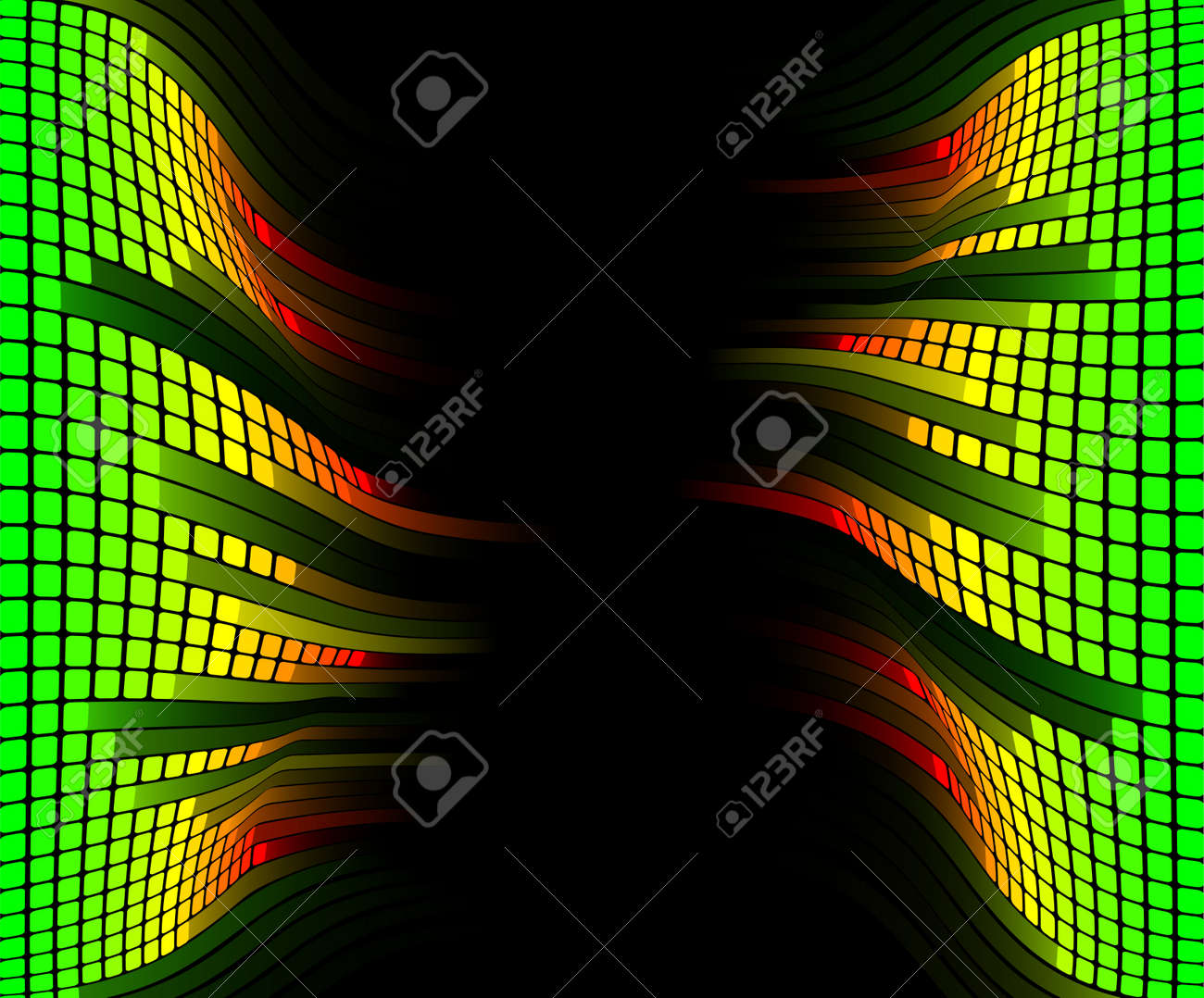 Abstract equaliser music sound background with copyspace in the centre Stock Vector - 9851566