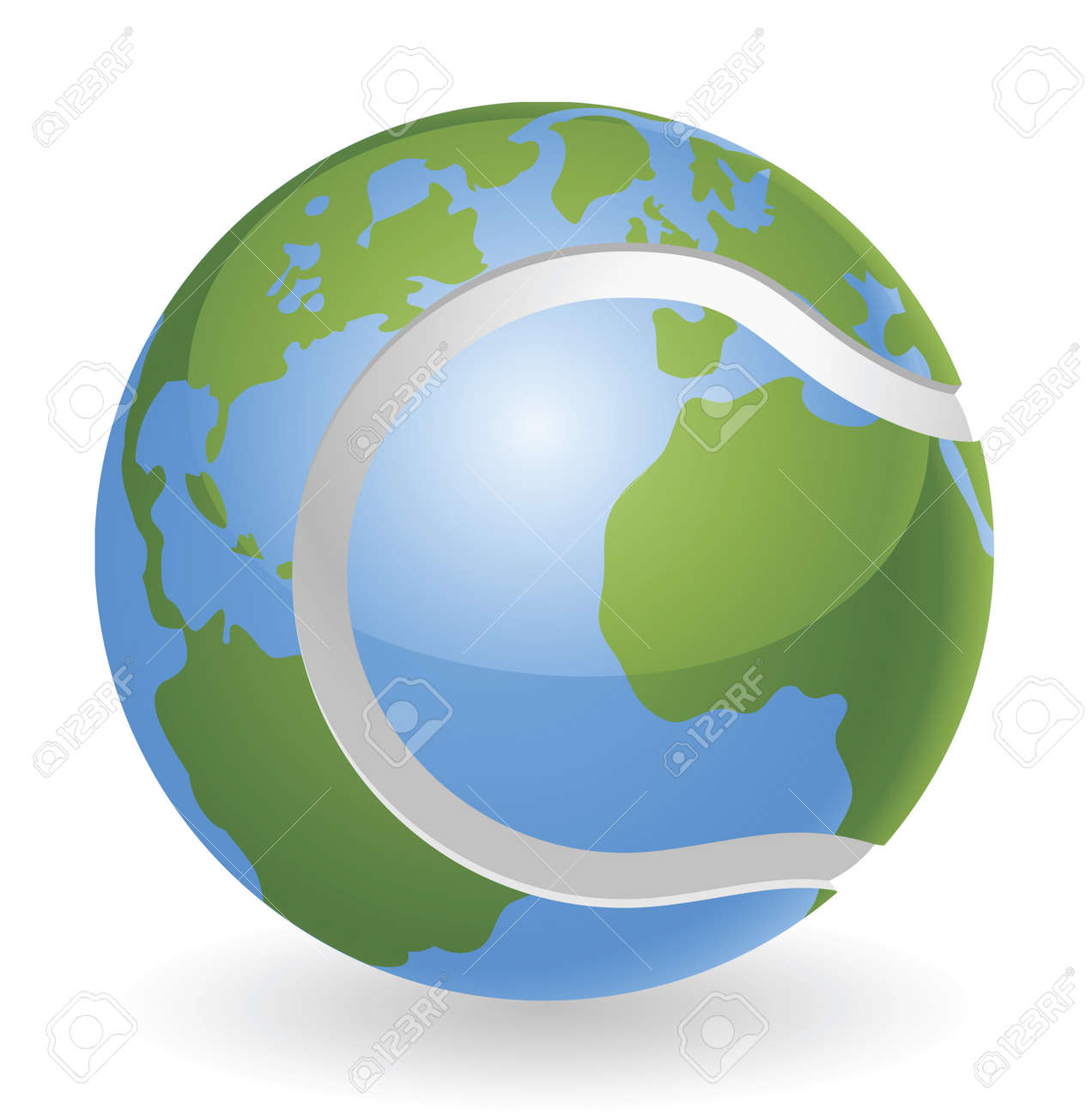 World globe tennis ball concept illustration Stock Vector - 9931677