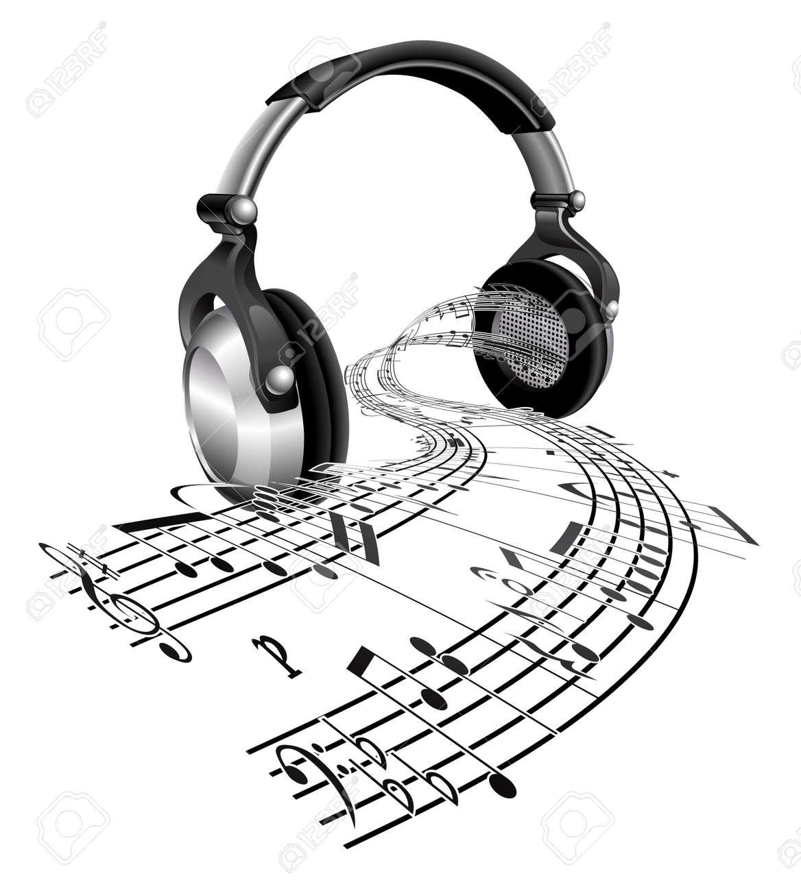 Streaming Desde Un Par De Auriculares En Forma De Notas De