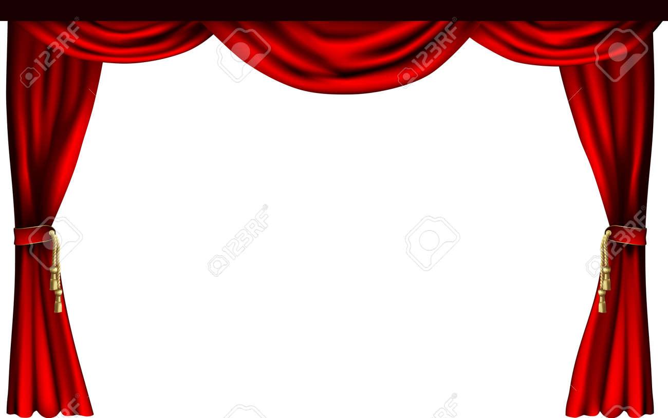Un ensemble de rideaux de style théâtre ou le cinéma.