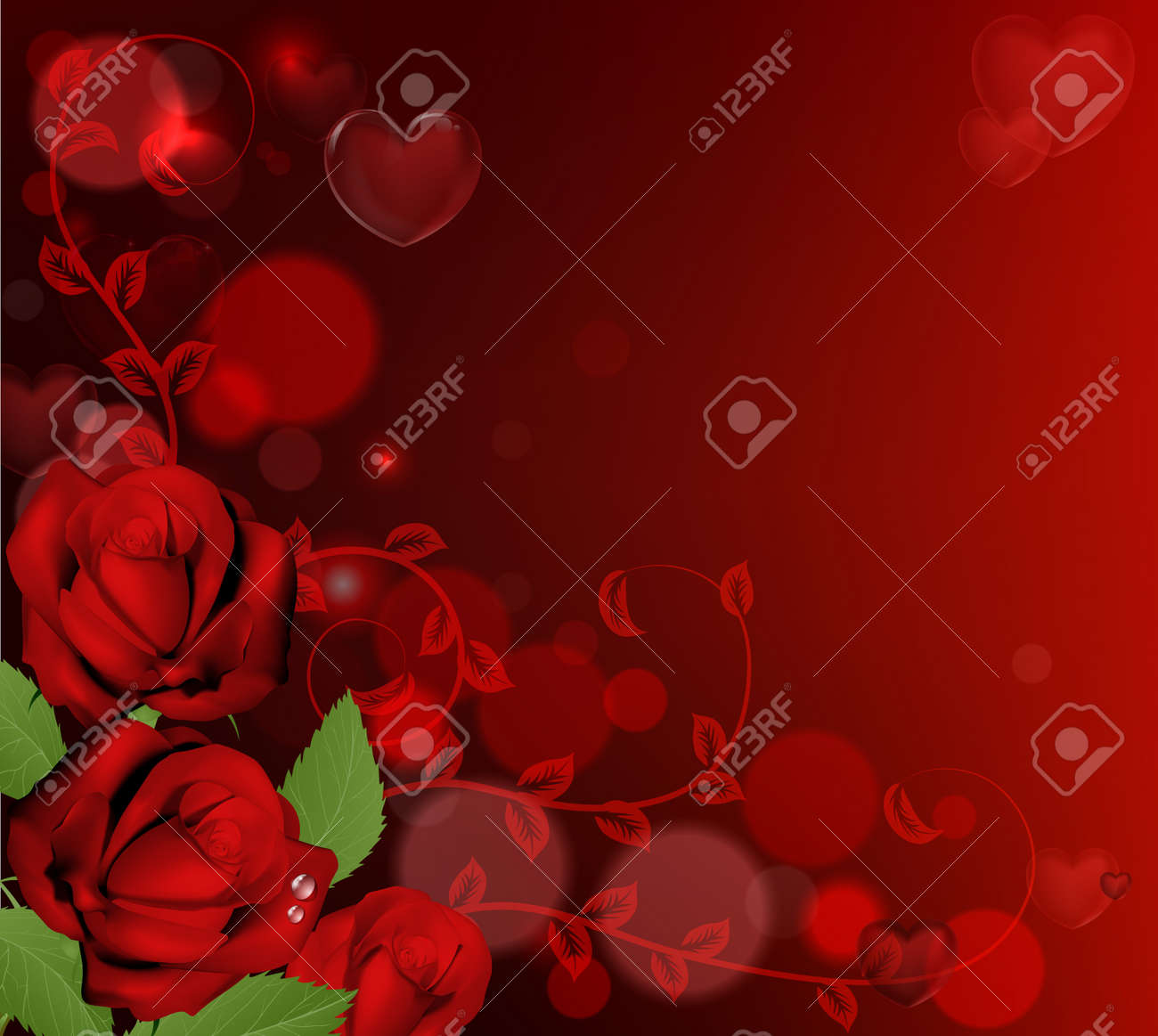 Free Heart On Red Background For Your Lovers Valentine Day ...