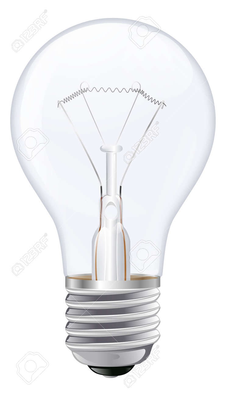 Light Bulb Screw Base: An illustration of an incandescent light bulb with male screw base Stock  Vector - 12808889,Lighting