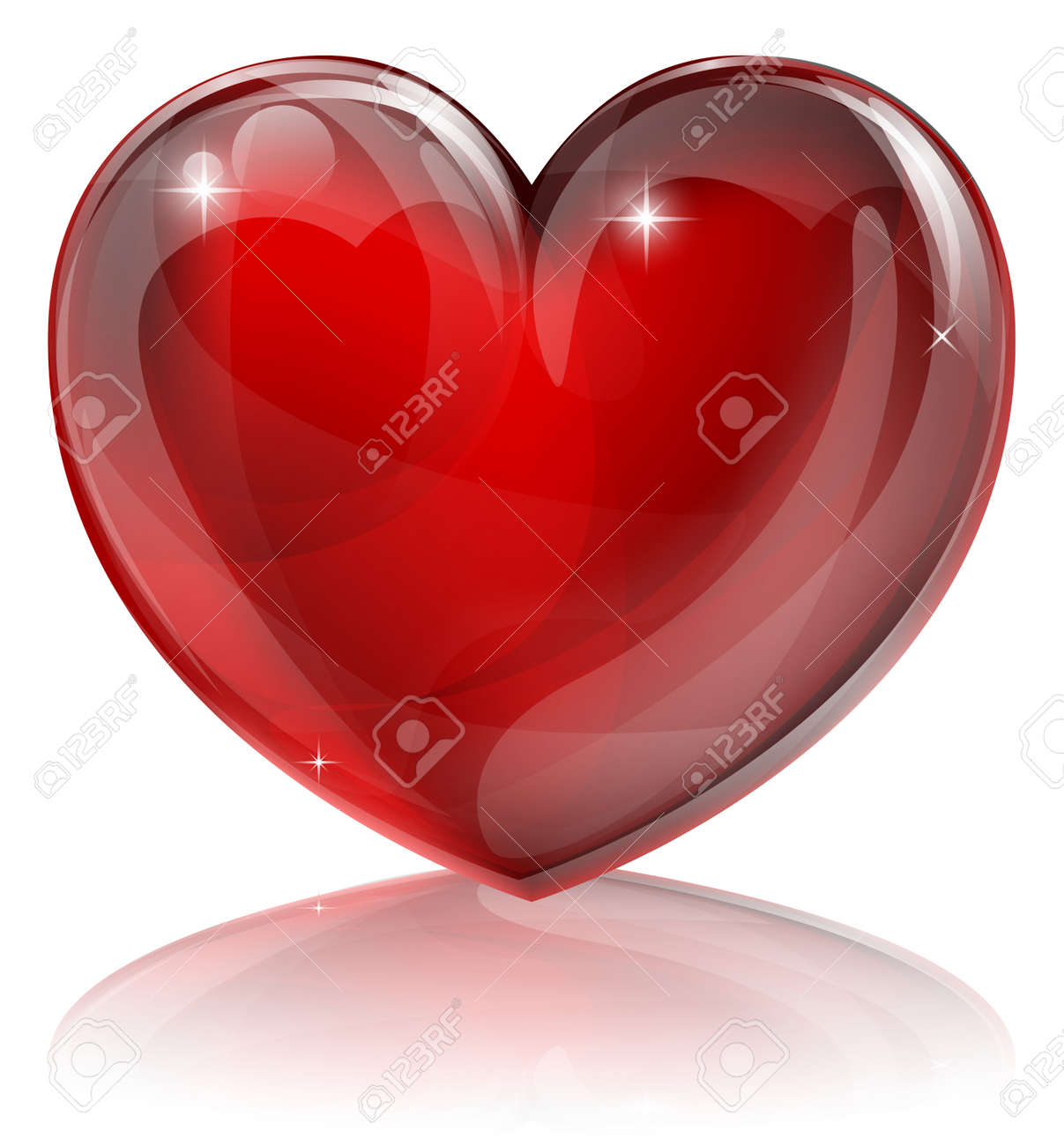 An illustration of a bright shiny red heart shaped symbol Stock Vector - 13158751