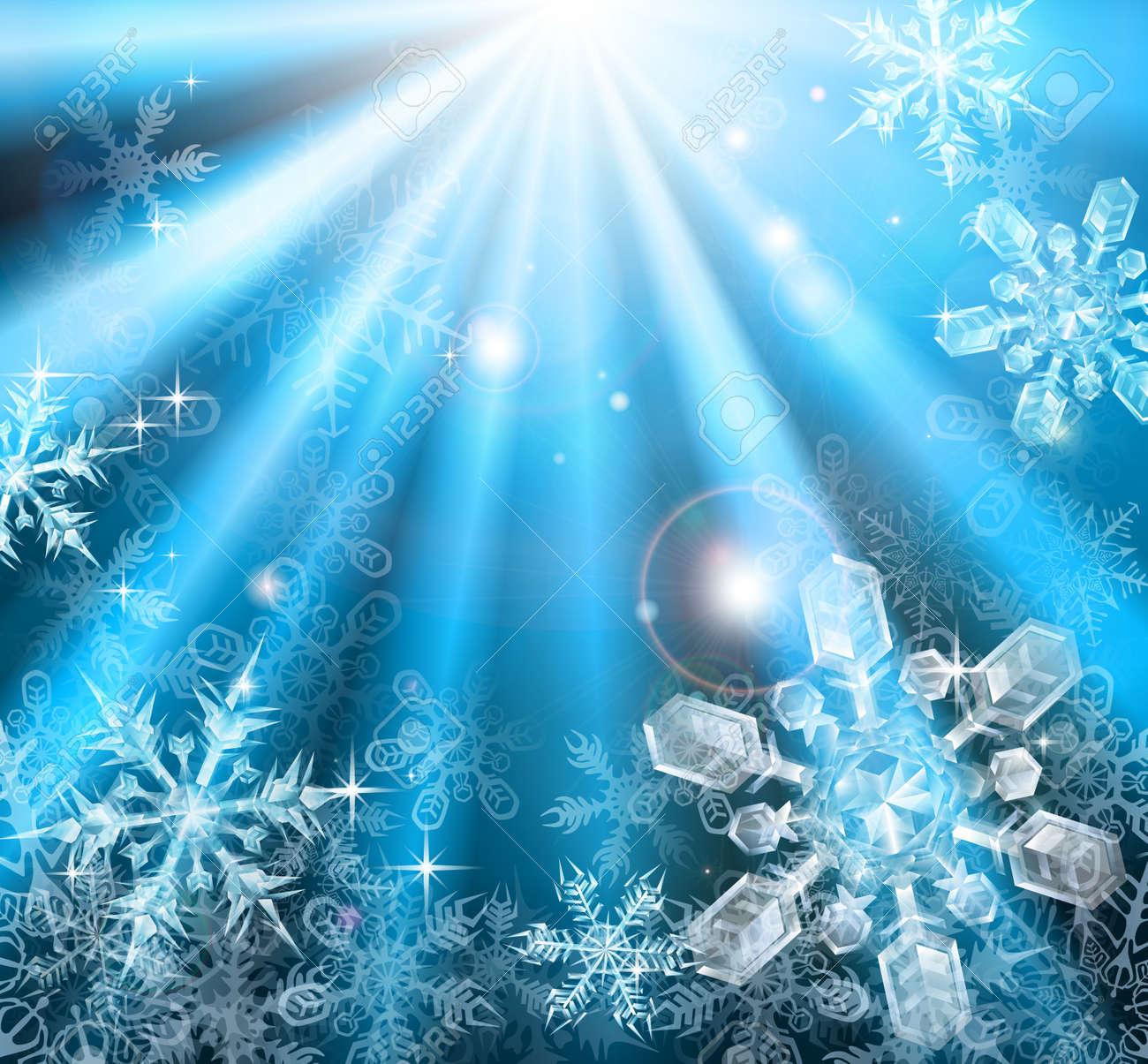 青い冬クリスマス雪背景イラスト ロイヤリティフリークリップアート