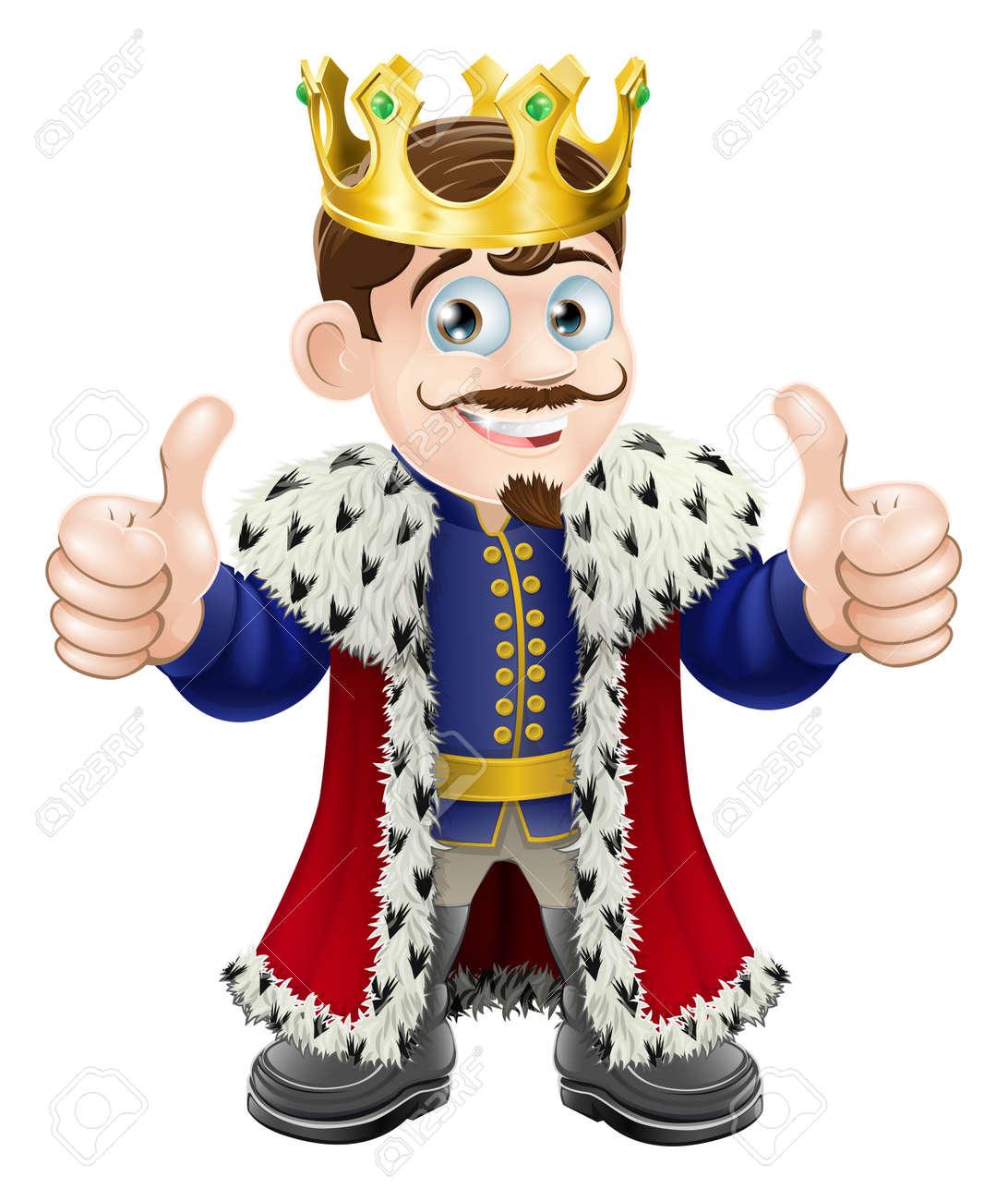 Image D Un Roi illustration de dessin animé d'un roi mignon avec la couronne et