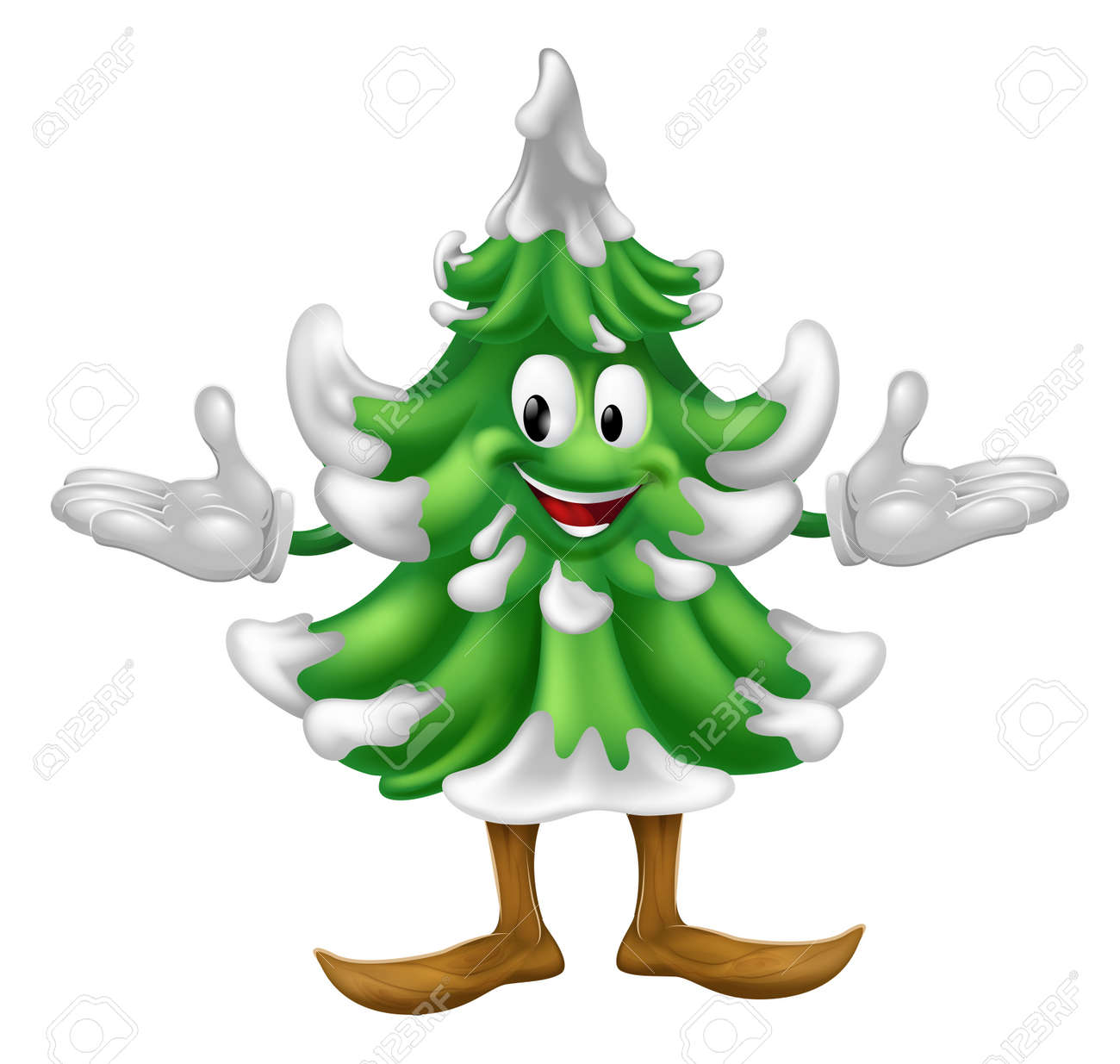 An illustration of a Christmas tree mascot character Stock Vector - 14719976