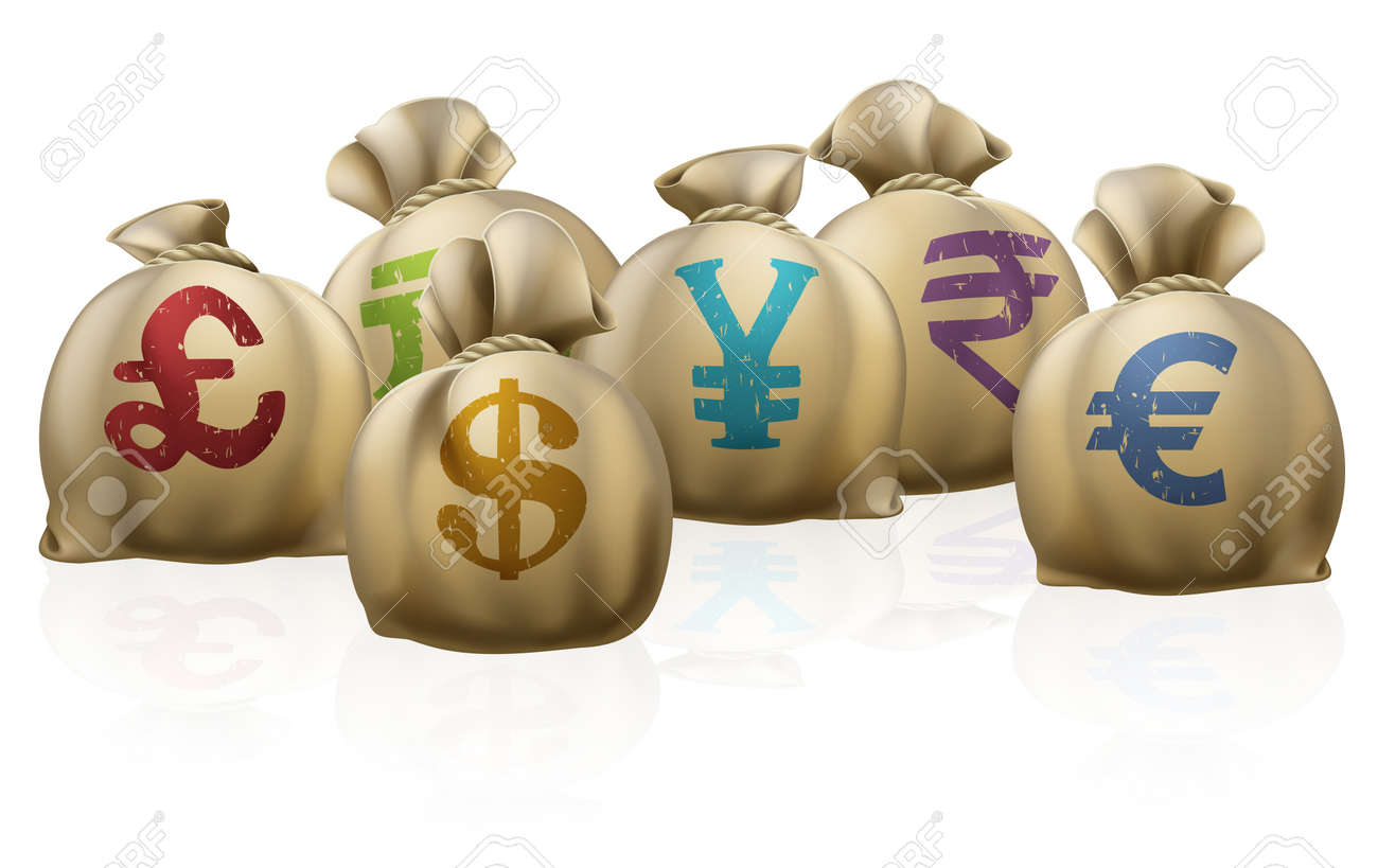 Illustrations of lots of money sacks with currency symbols on illustrations of lots of money sacks with currency symbols on them stock vector 14795234 biocorpaavc Images