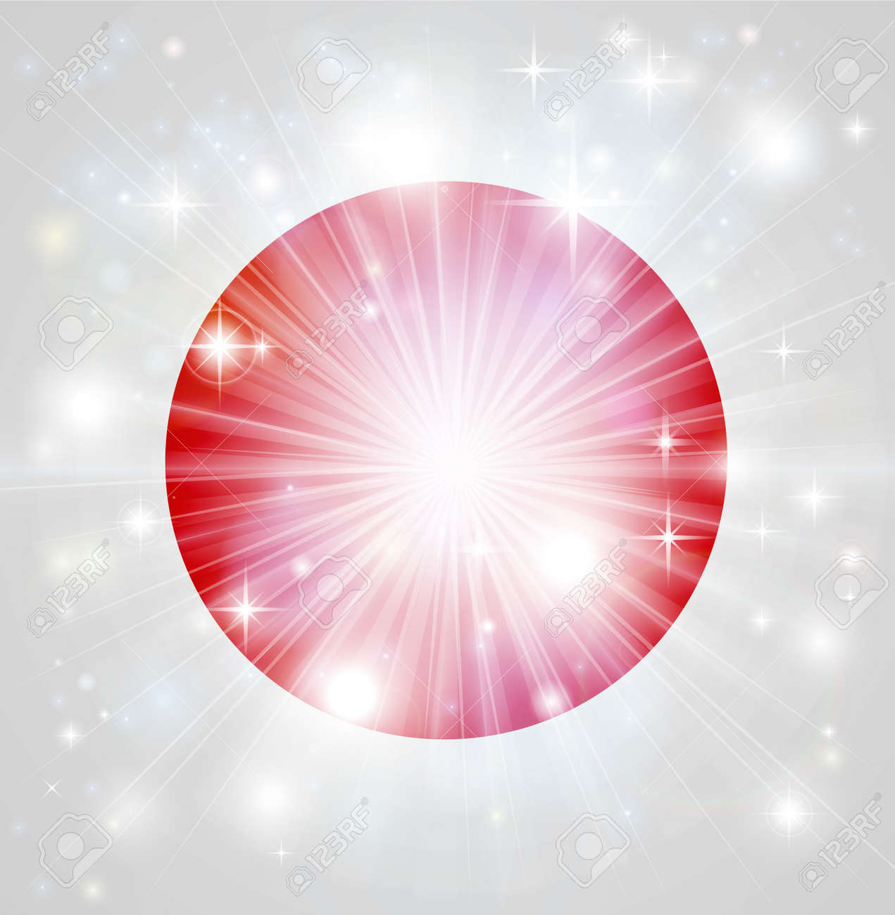Flag of Japan background with pyrotechnic or light burst and copy space in the centre Stock Vector - 16654979