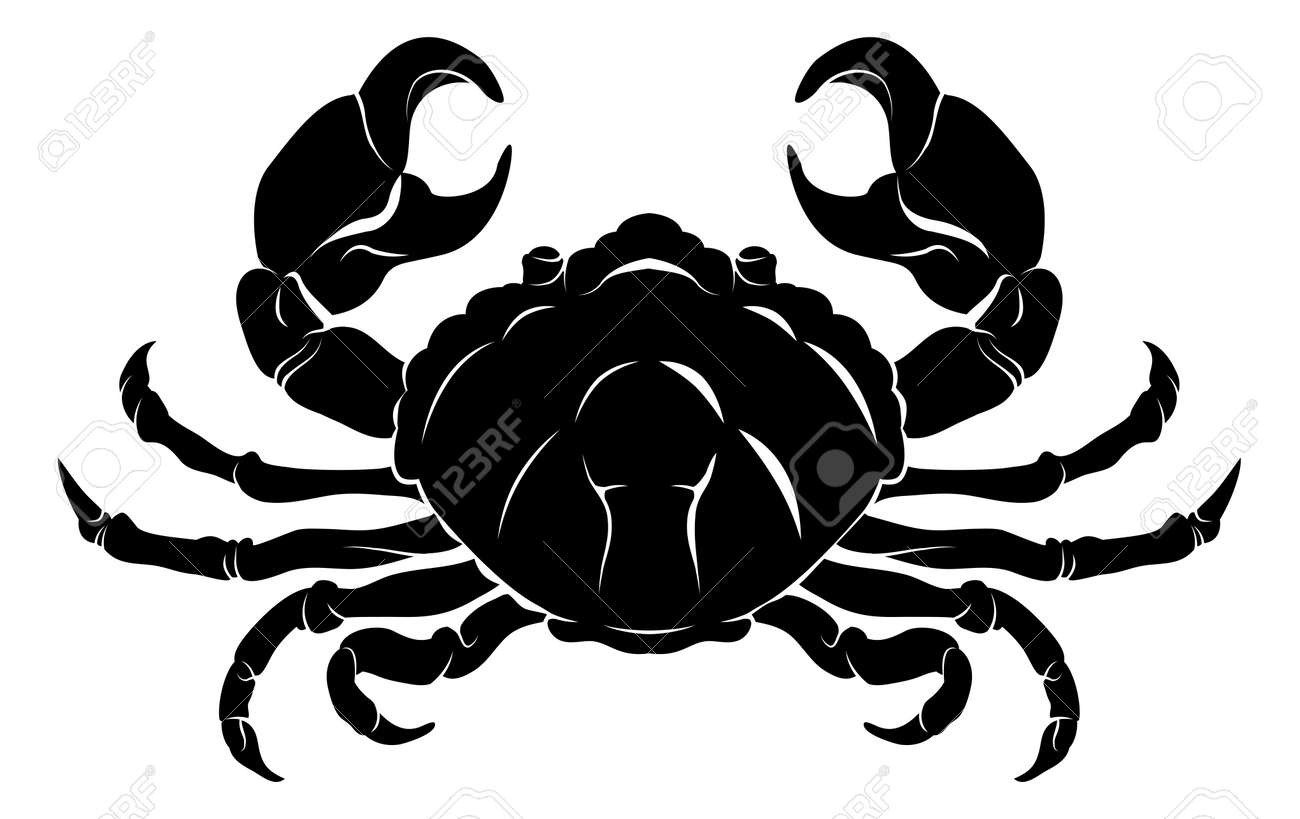 An illustration of a stylised black crab perhaps a crab tattoo Stock Vector - 16875279