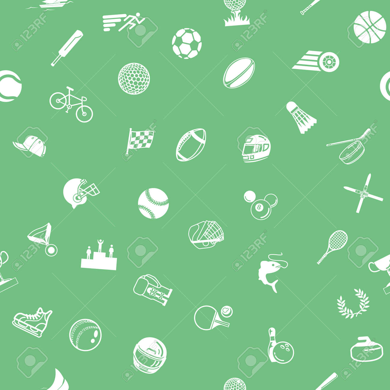 Background image html no repeat - A Repeating Seamless Sport Background Tile Texture With Lots Of Drawings Of Different Sports Icons Stock
