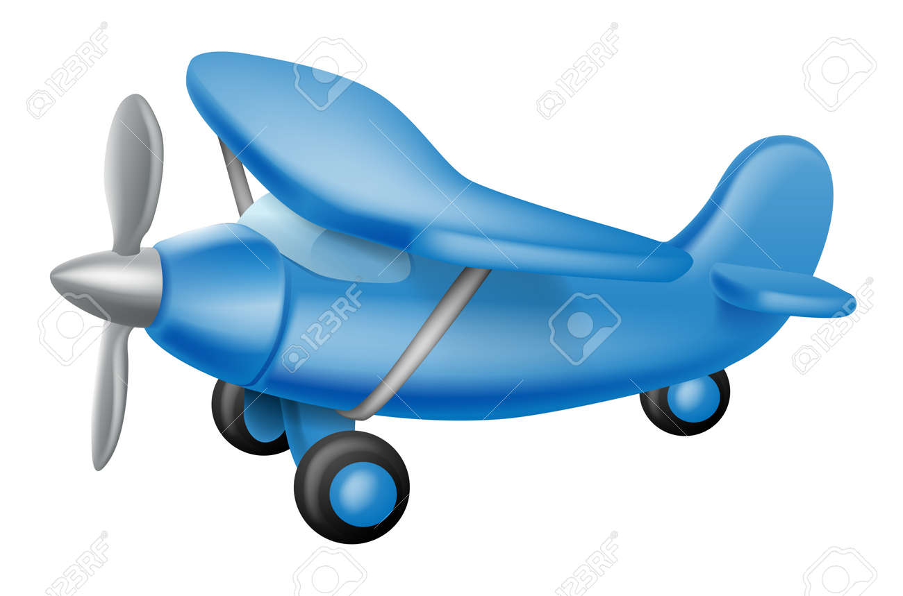 An Illustration Of A Cute Little Cartoon Blue Prop Plane Perhaps Royalty Free Cliparts Vectors And Stock Illustration Image 18653588