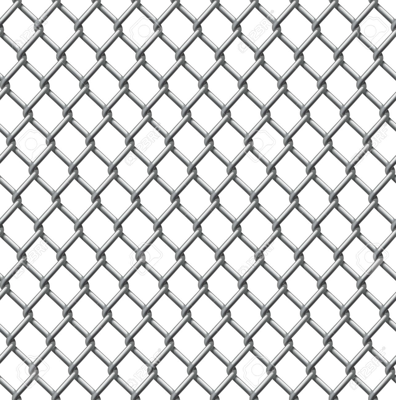 Chain Link Vector an illustration of a seamlessly tillable chain link fence pattern
