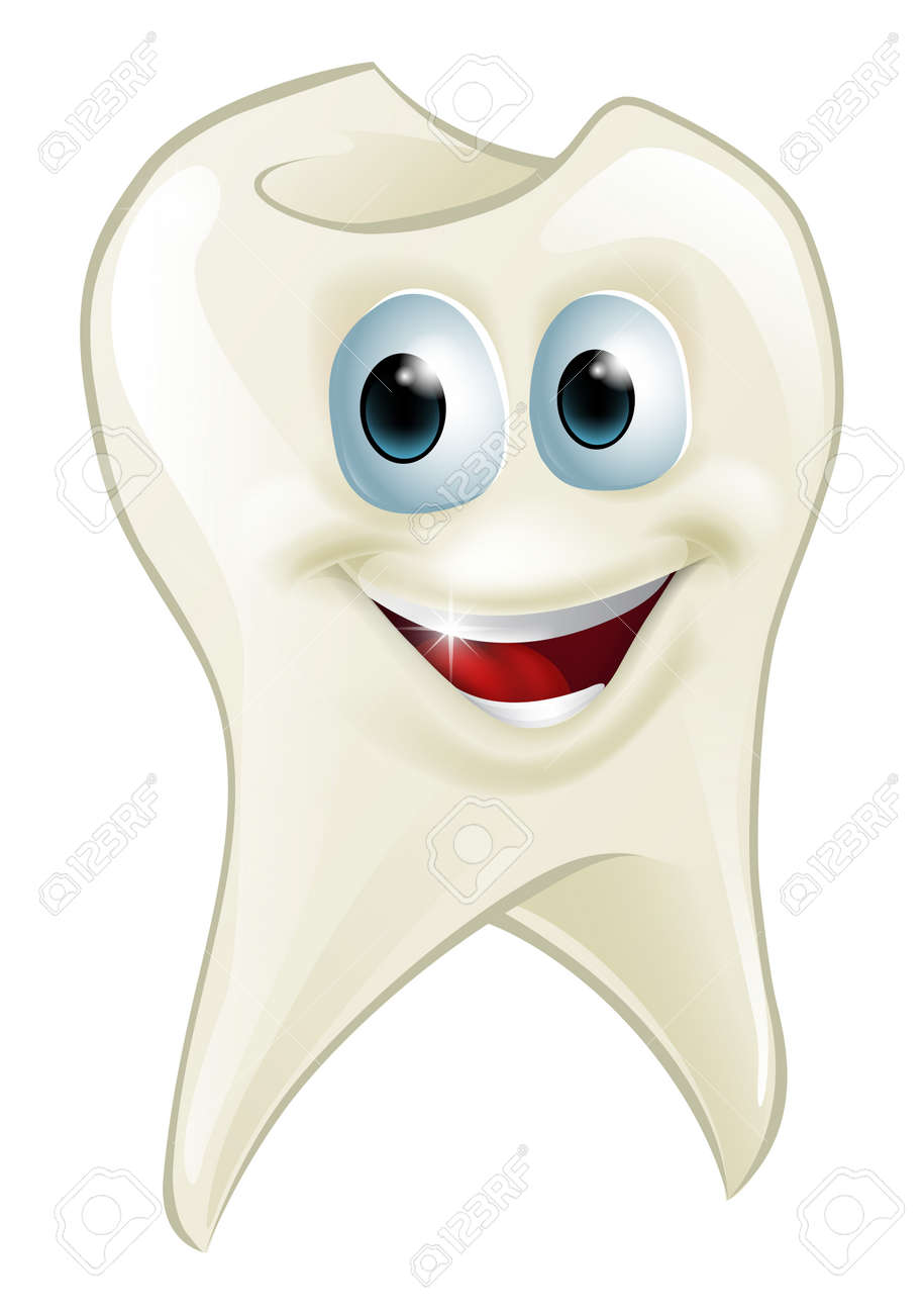 An illustration of a cartoon tooth man character mascot Stock Vector - 20018594