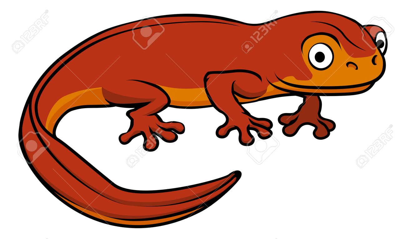 an illustration of a happy cute cartoon newt royalty free cliparts rh 123rf com nest clipart newt clipart