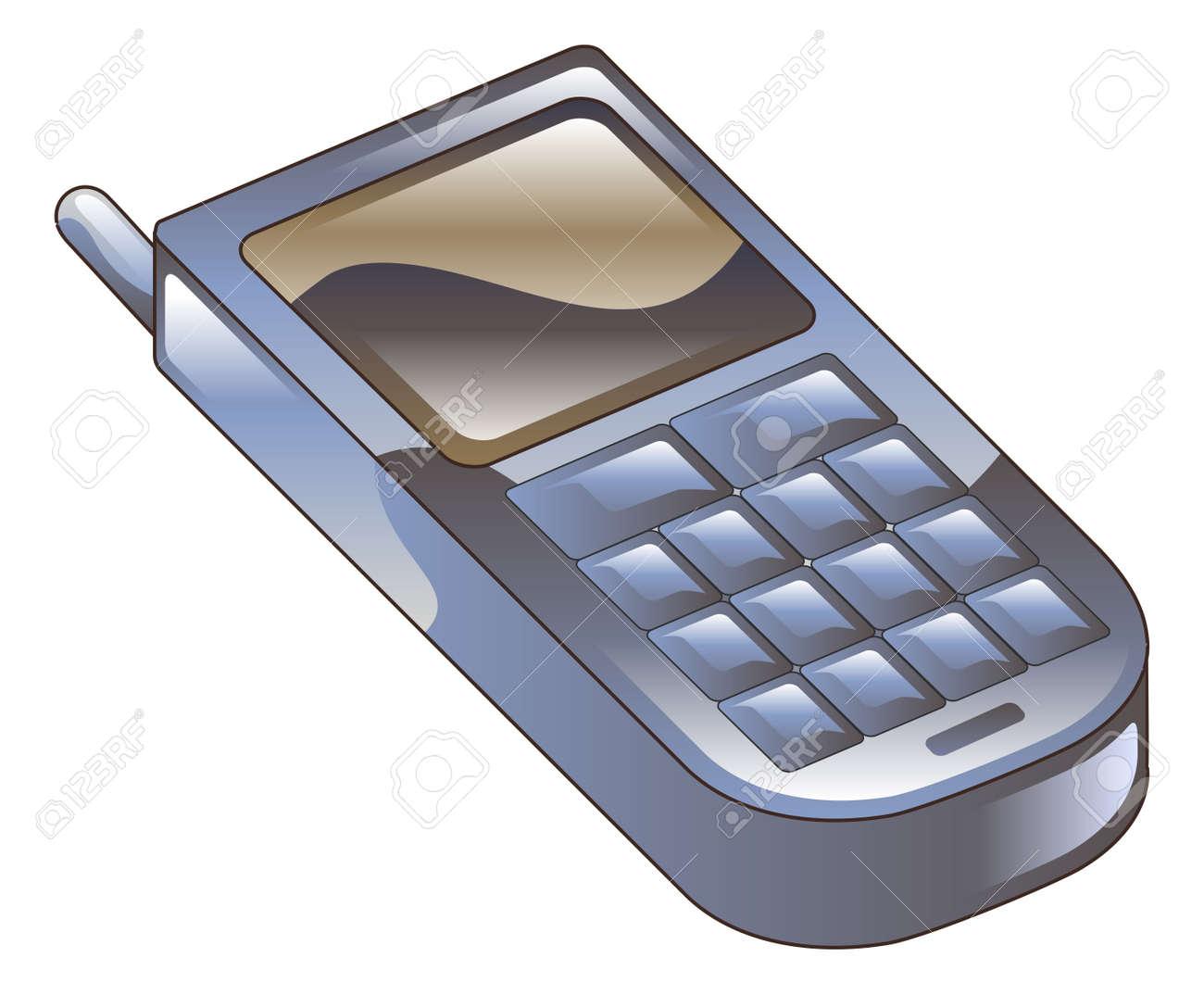 携帯電話アイコン クリップアートのイラストのイラスト素材ベクタ