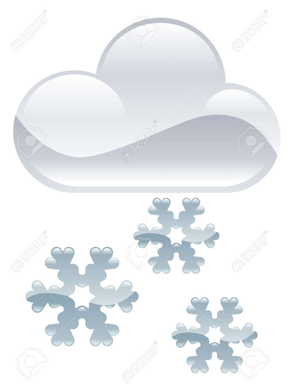 Weather icon clipart snow flakes illustration Stock Vector - 21683599