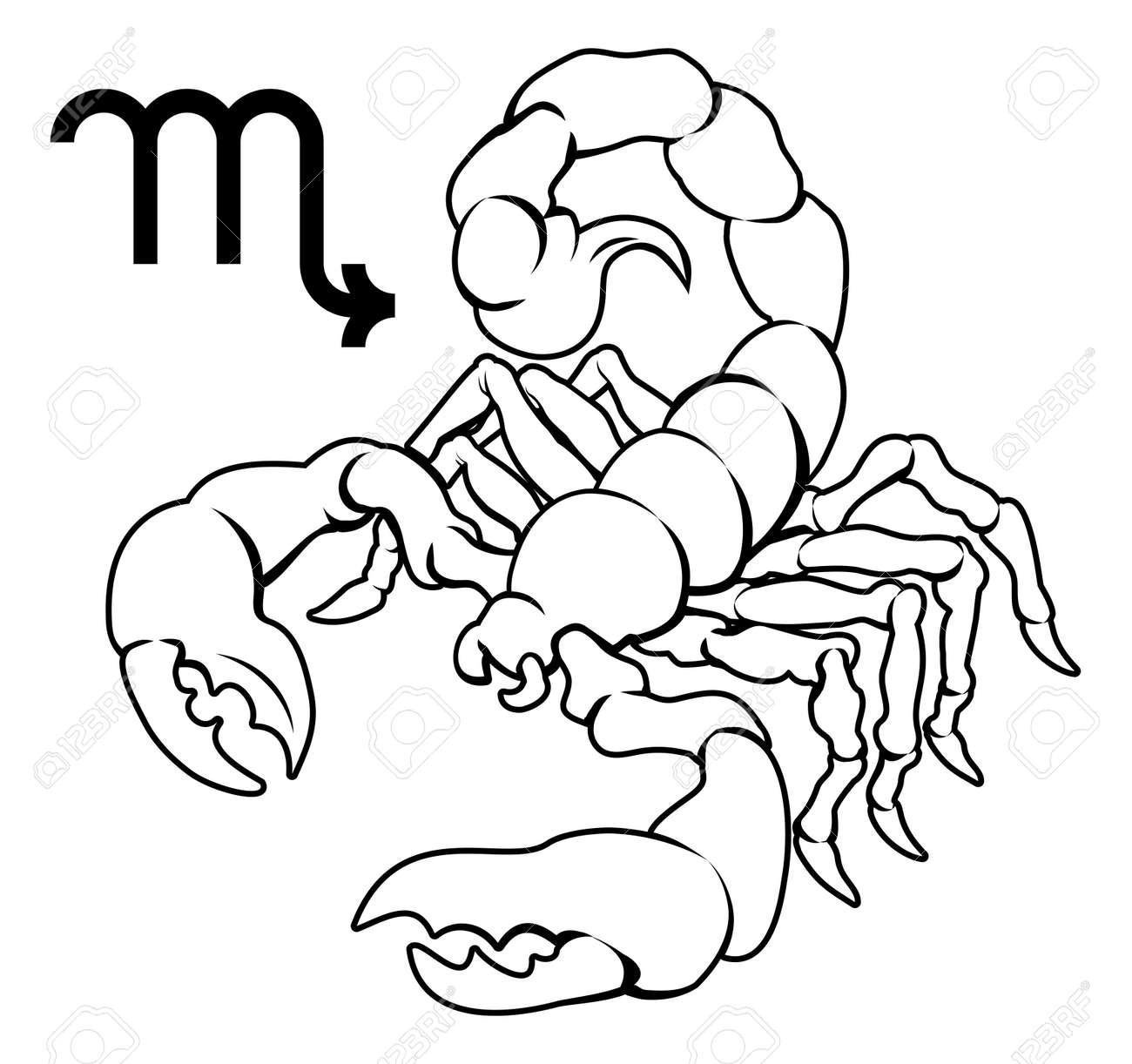 Illustration Du Scorpion Du Zodiaque Horoscope Signe De L ...