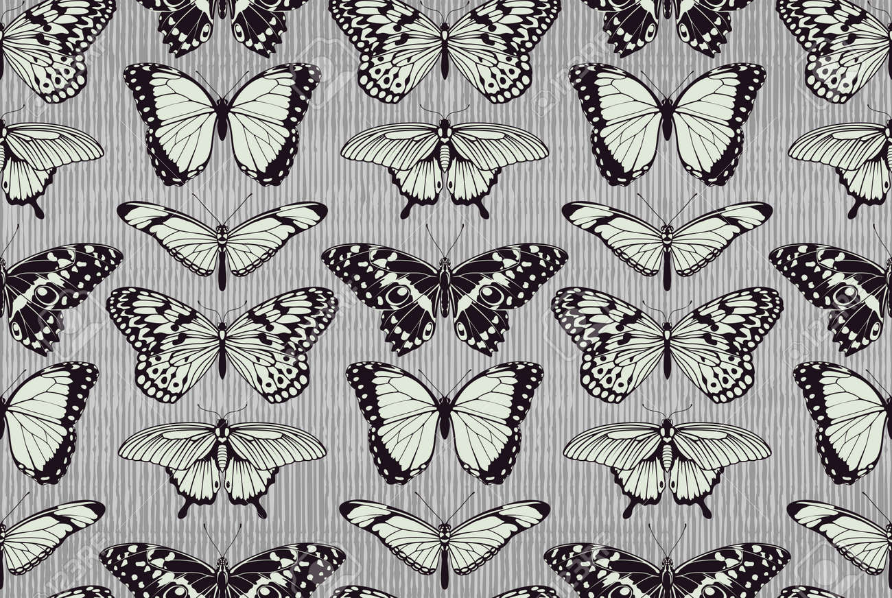 a seamless tiling repeating butterfly pattern background with